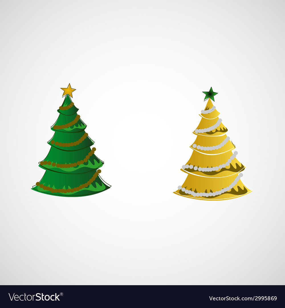 Set of trees on a light background vector