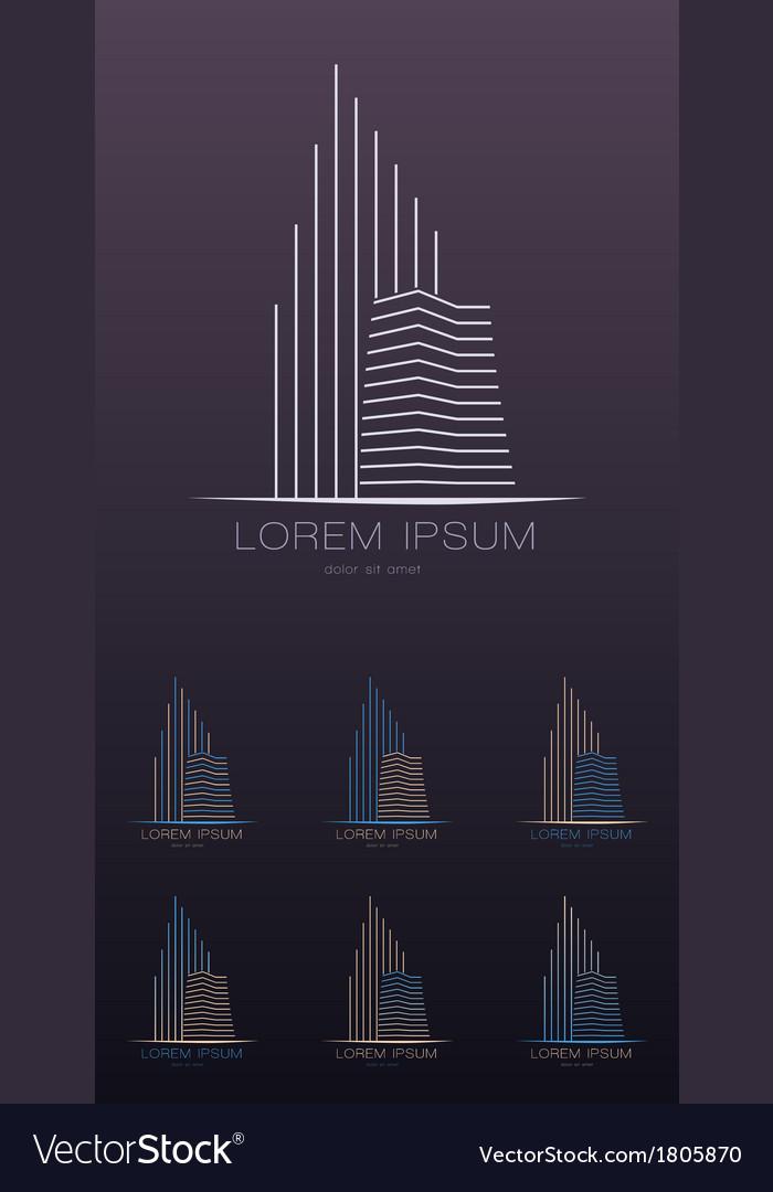 Real estate company logo design template vector