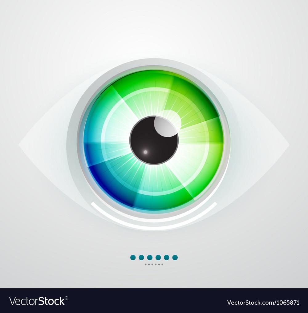 Abstract techno eye vector