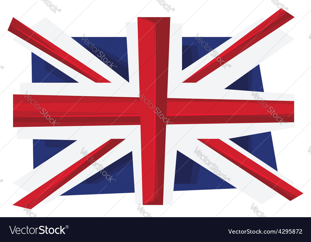 Uk flag of united kingdom vector