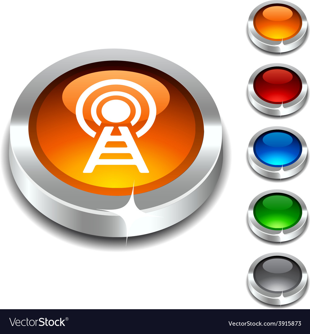Communication 3d button vector