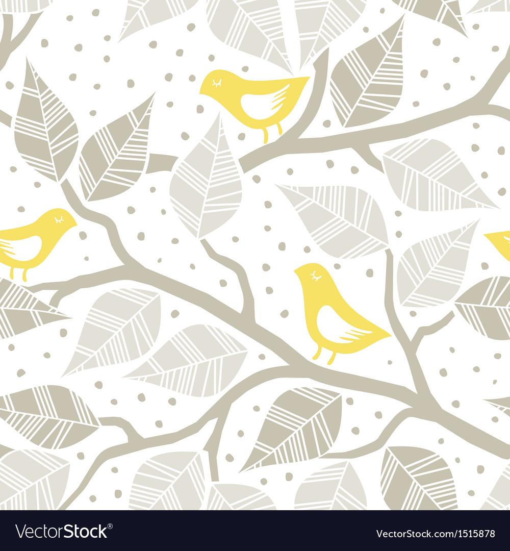 Pastel bird print patterns vector