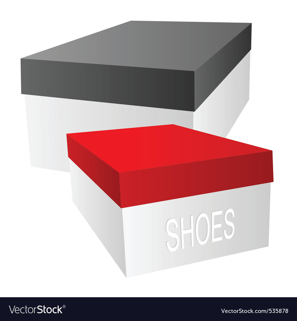 Shoe boxes vector