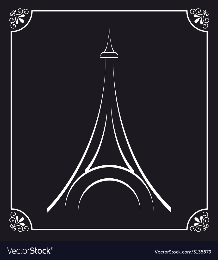 Tower eiffel design vector