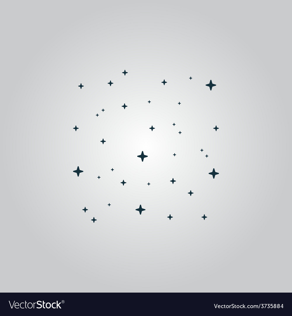 Starry sky icon vector