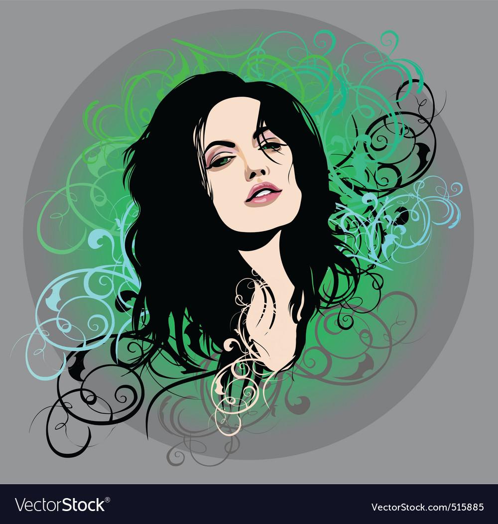 Woman expressive look vector