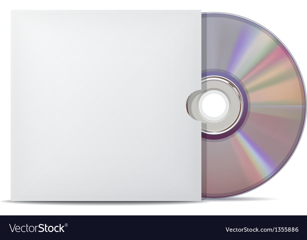 Compact disk with cover vector