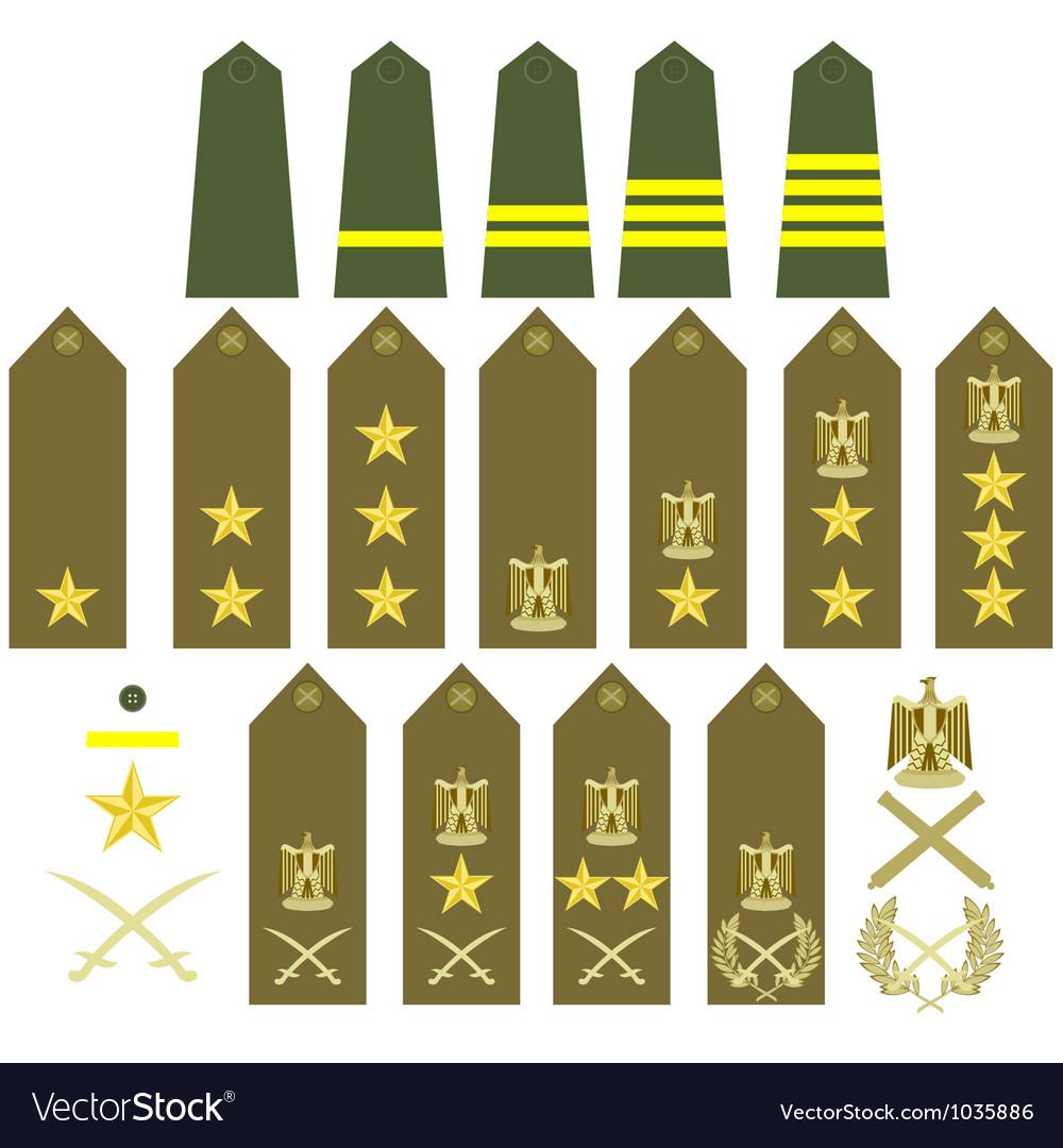 Egyptian army insignia vector