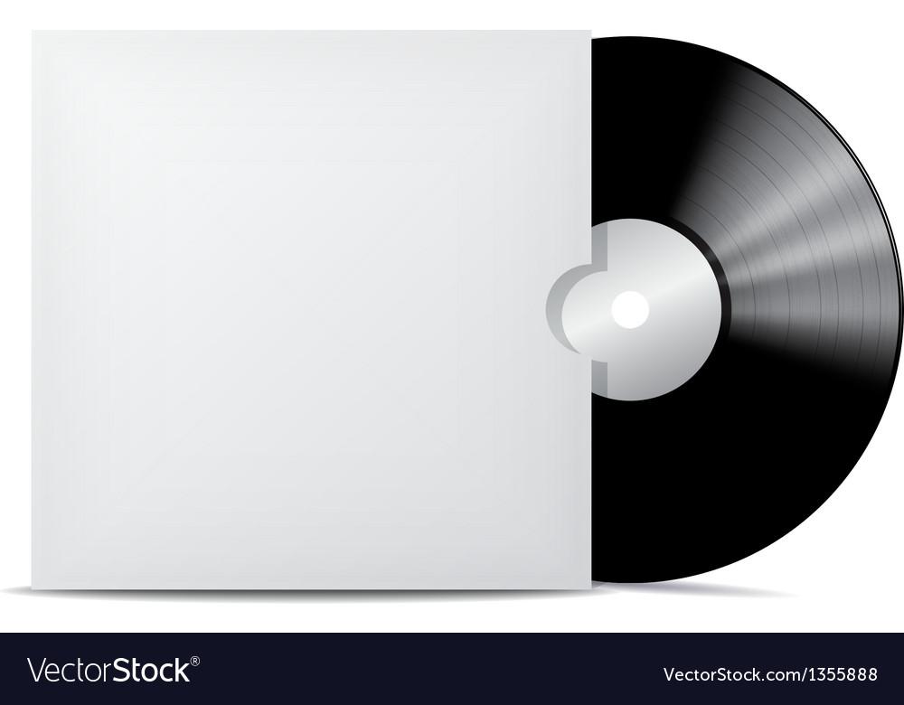 Vinyl record in blank cover envelope vector