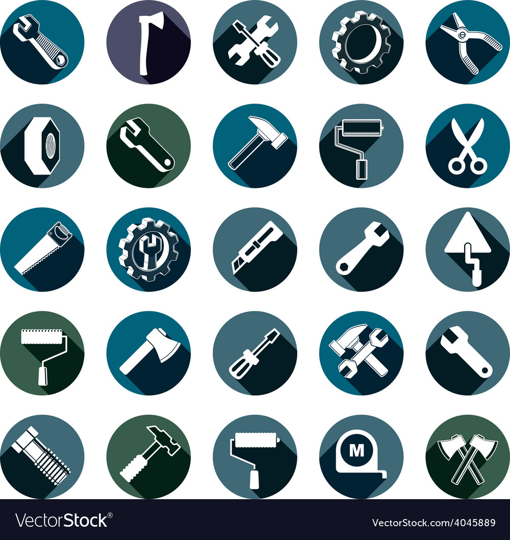 Highly detailed work tools collection carpentry vector
