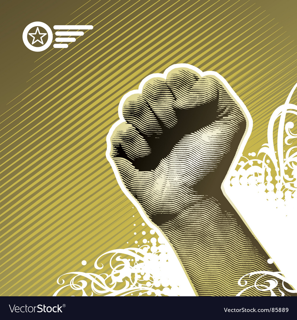 Protest hand vector