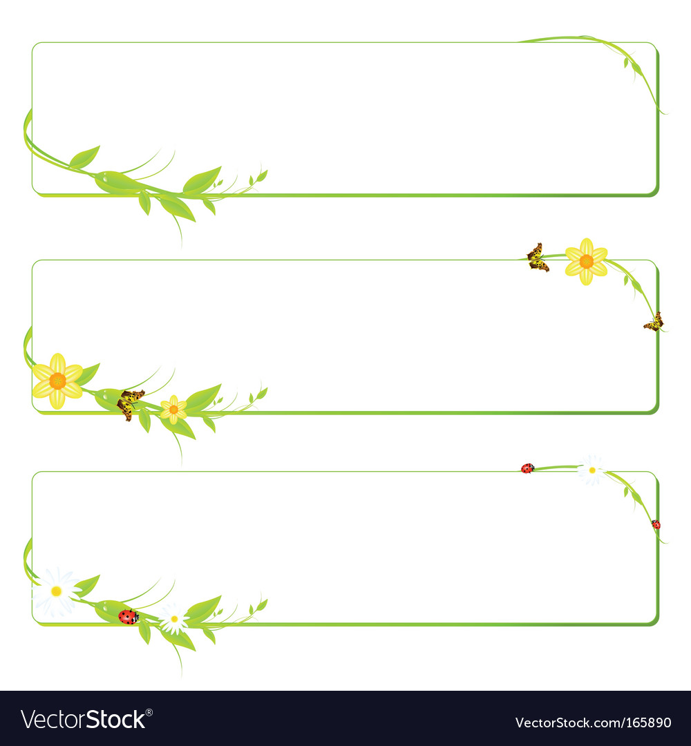Summer spring banners vector