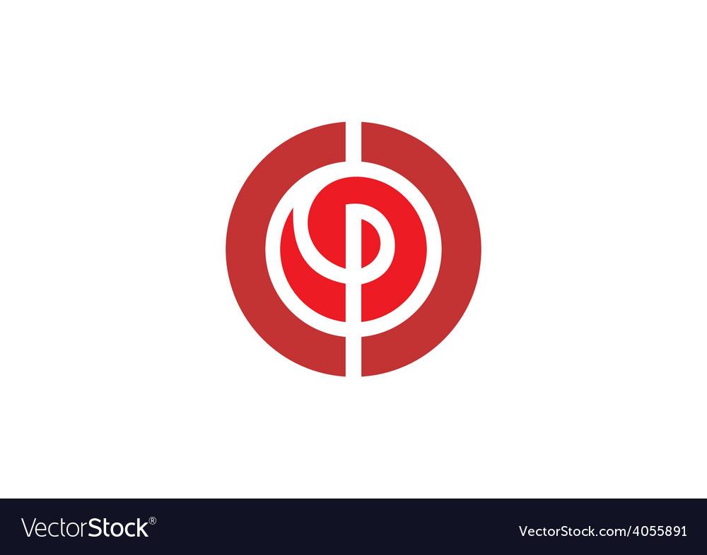 Circle swirl maze abstract logo vector