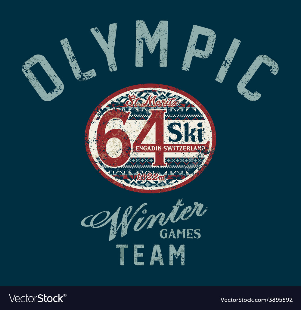 Winter ski games vector