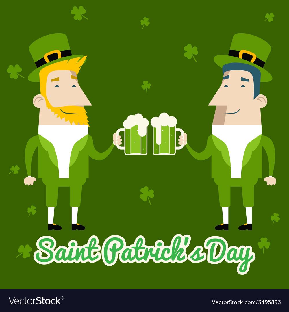Saint patricks day celebration cartoon characters vector