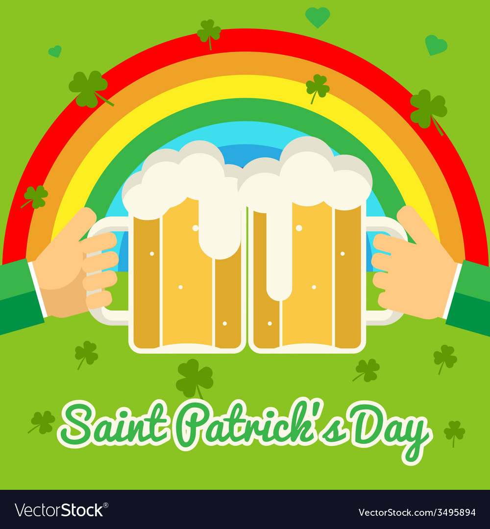 Saint patricks day celebration success and vector