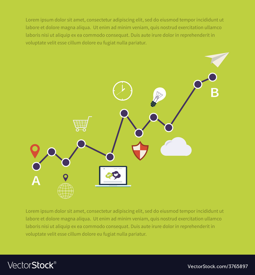 Web analytics information and investment vector