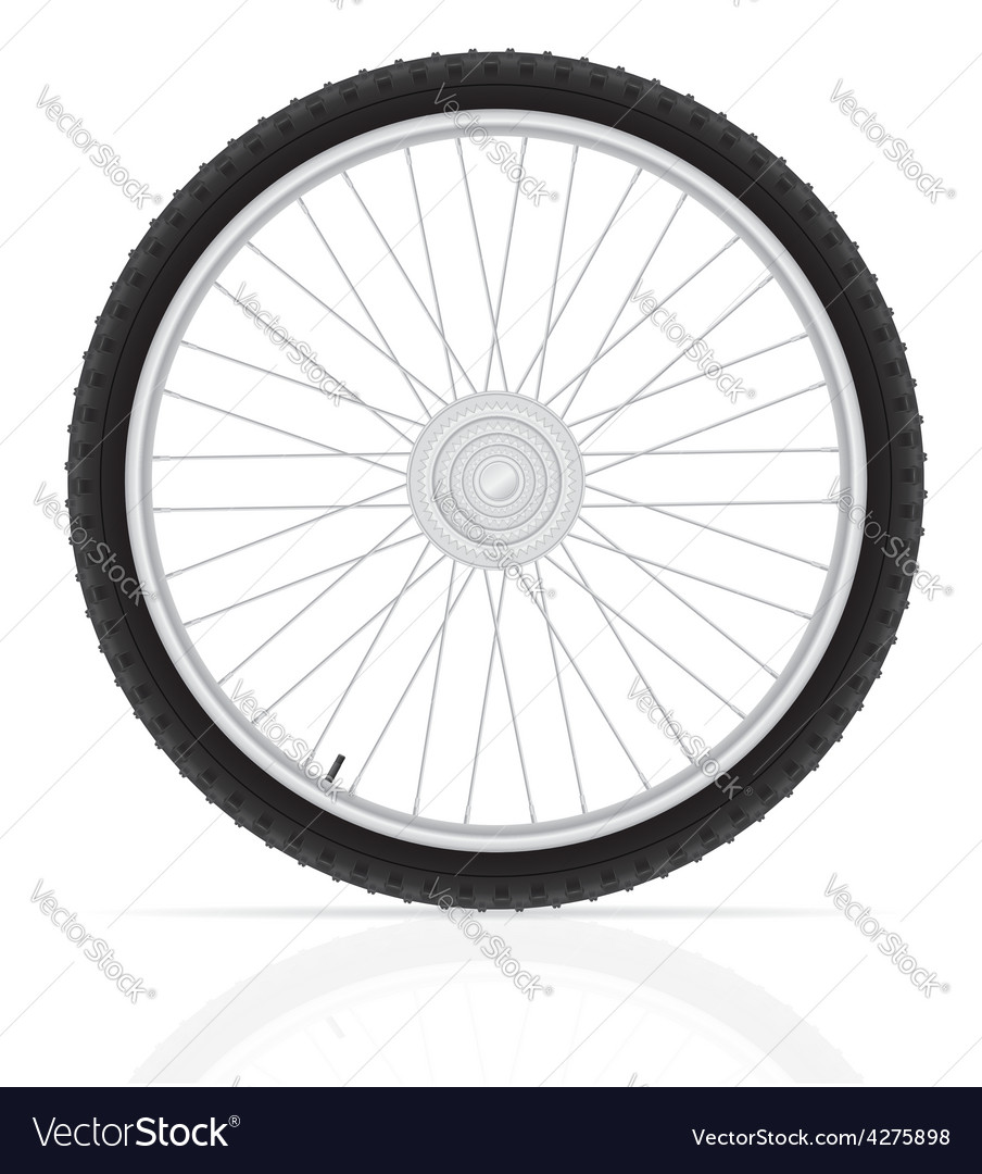 Bicycle wheel 02 vector