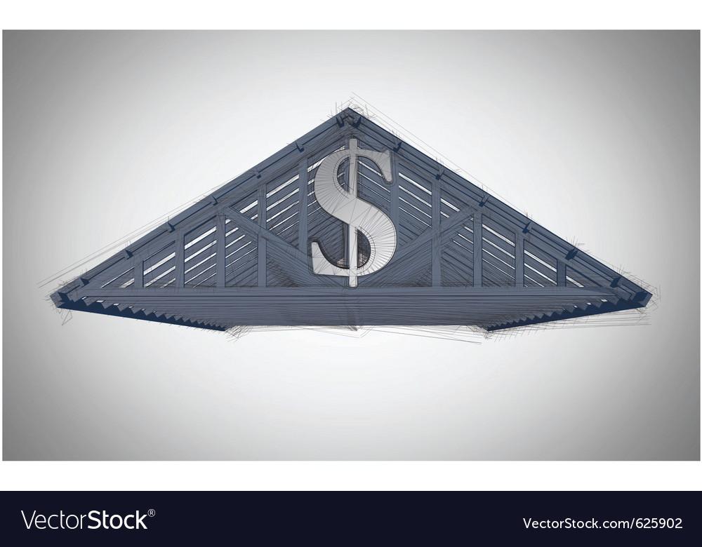 Money roof vector