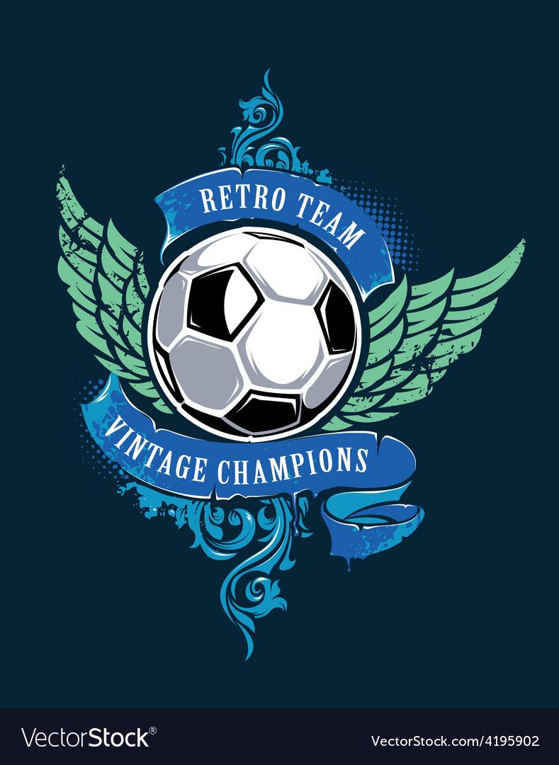 Soccer grunge print vector