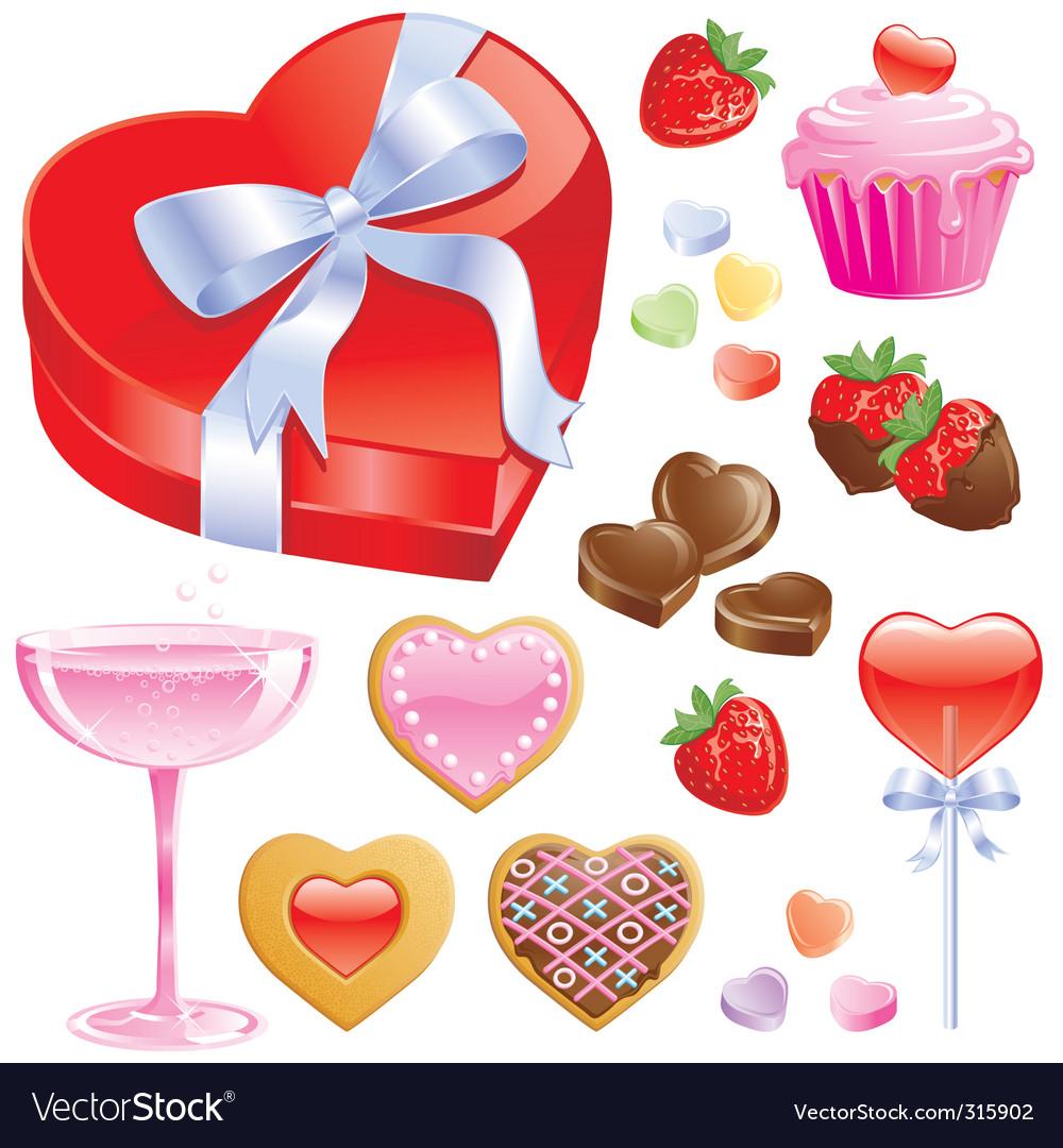 Valentine treats vector