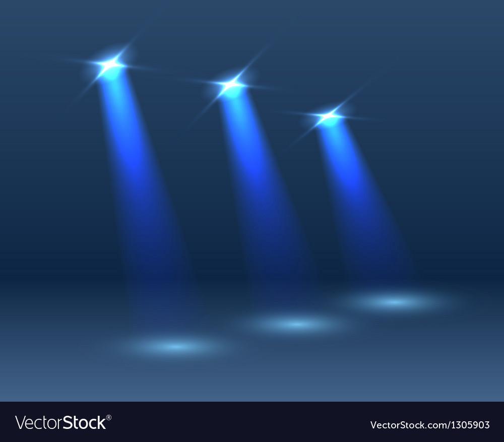 Scene with lighting vector