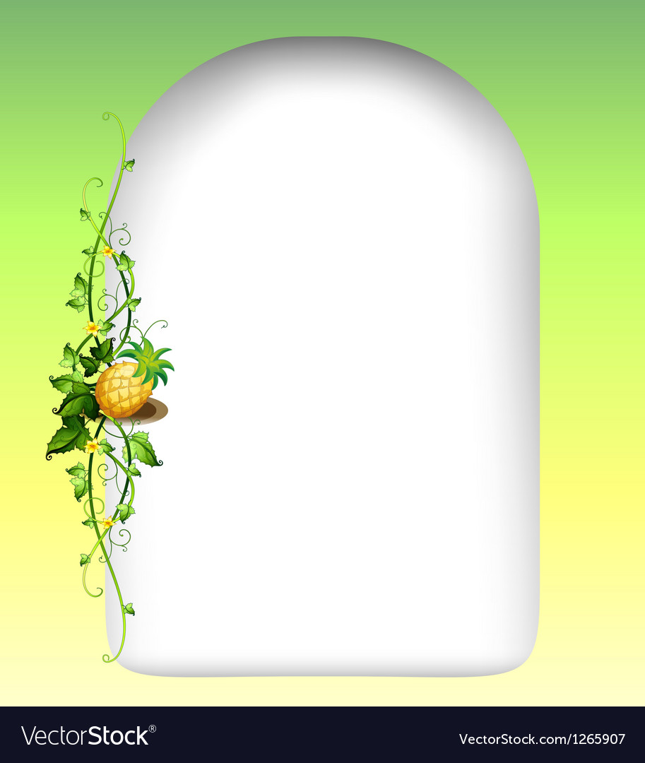 A vine fruit beside the empty space template vector