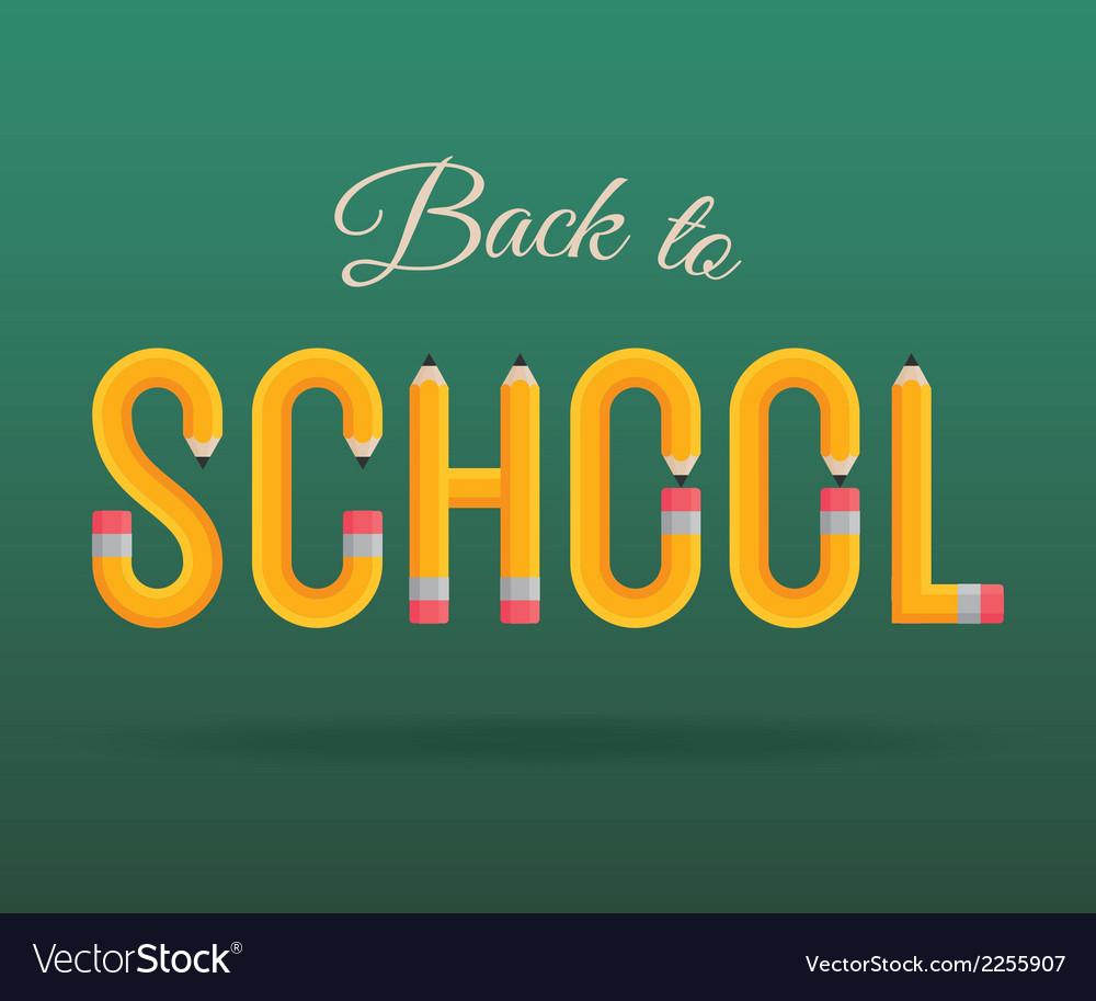 Back to school pencil vector