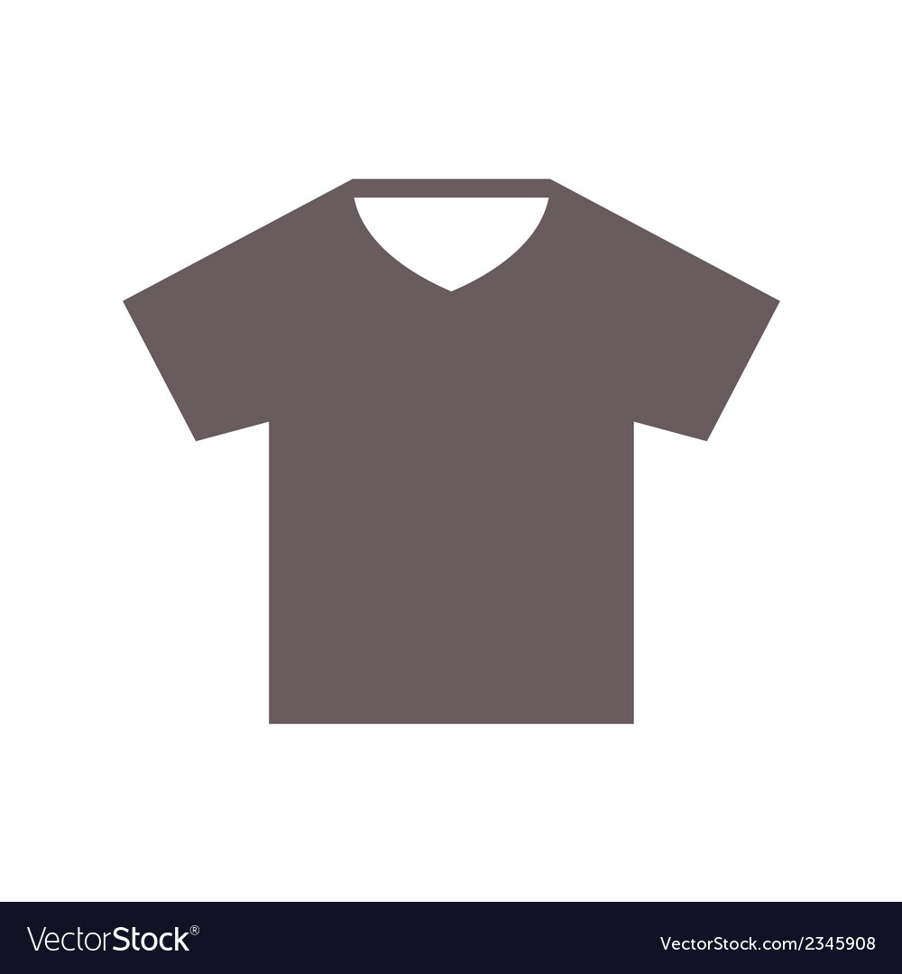 T-shirt flat style icon on white background vector