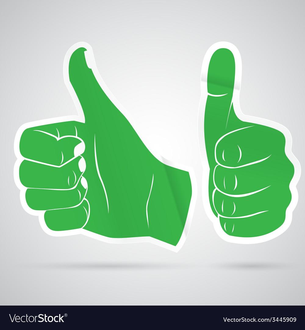 Thumbs up sticker vector