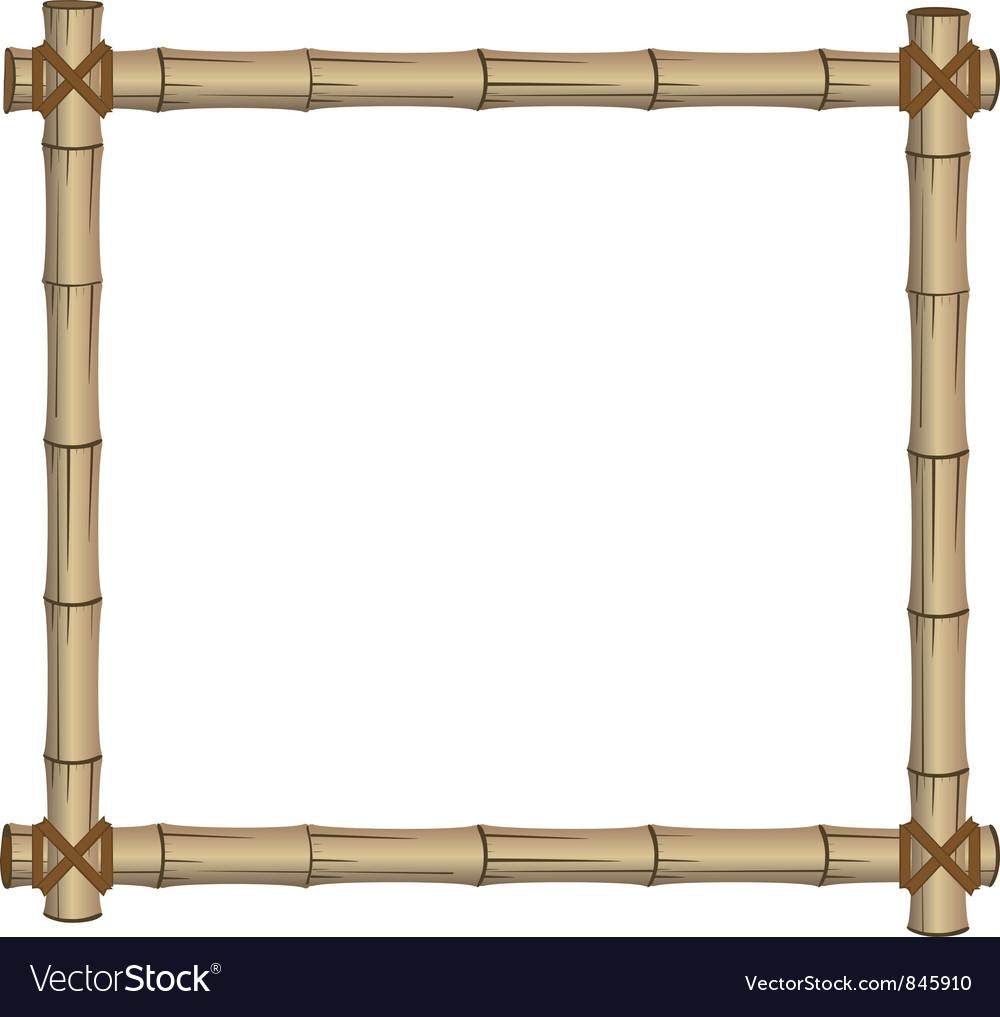 Frame bamboo vector