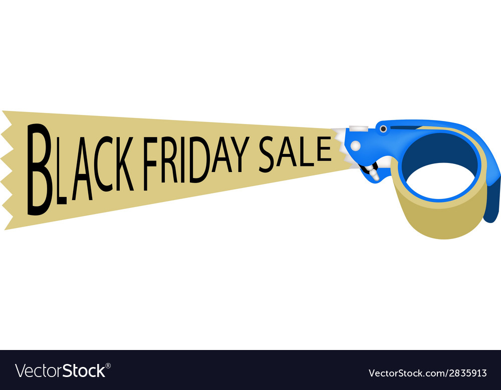 Adhesive tape dispenser with word black friday vector