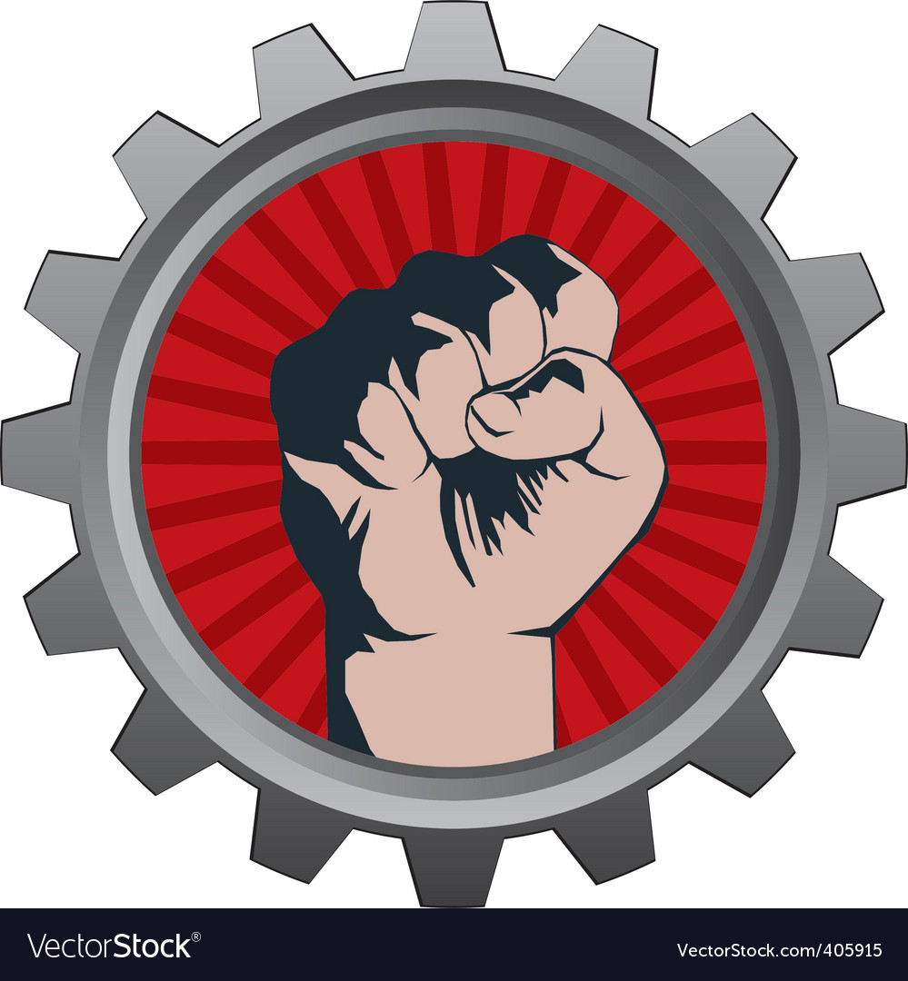 Badge fist vector