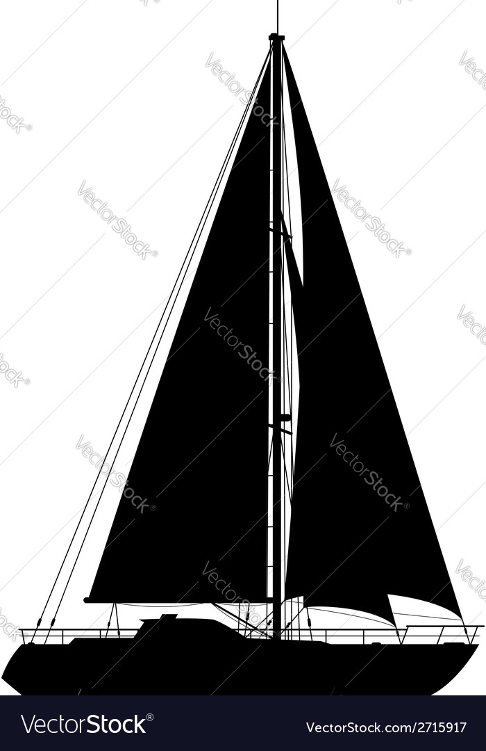 Yacht isolated on white background vector