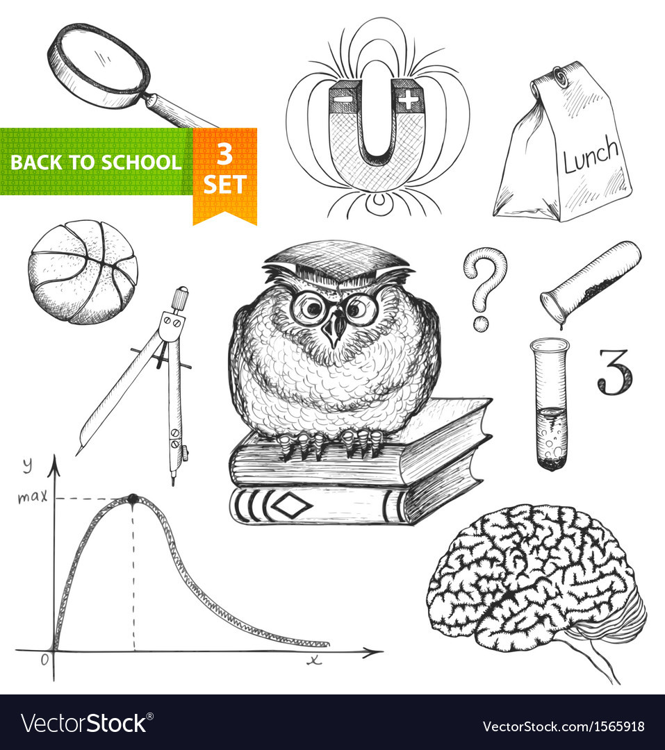 Back to school set vector