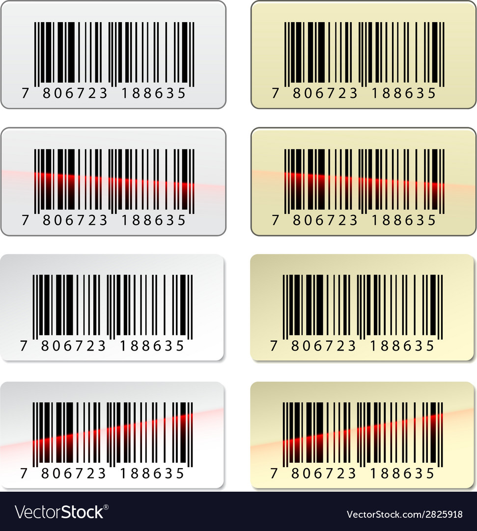 Ean barcode stickers vector