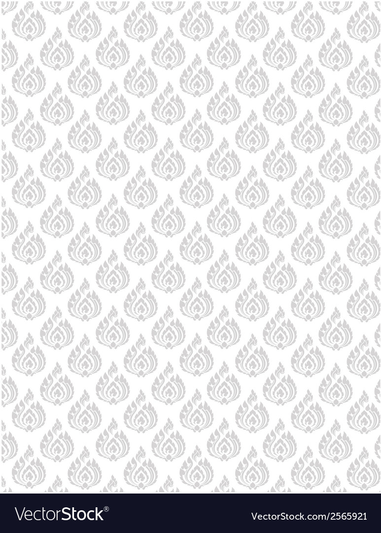Thai pattern floral 01 vector