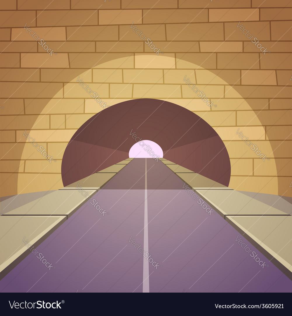 Tunnel road vector