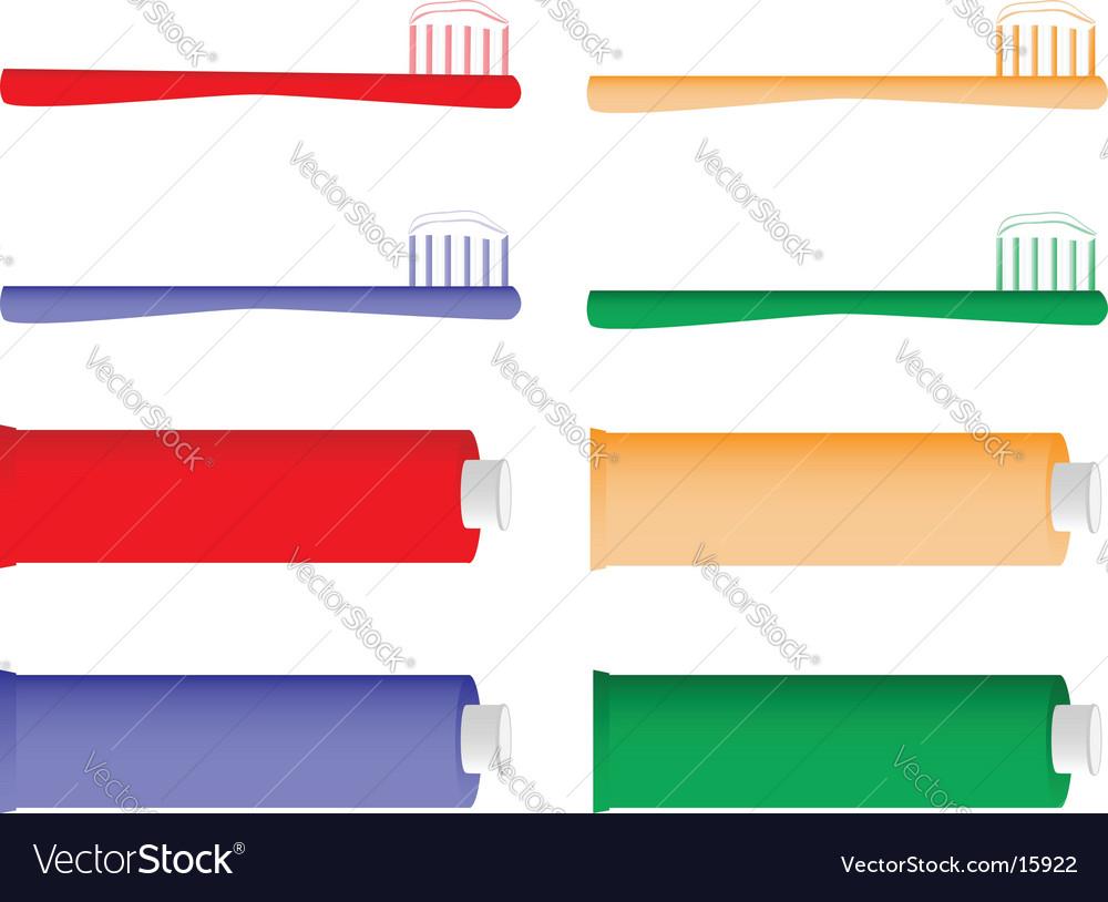 Toothbrush vector
