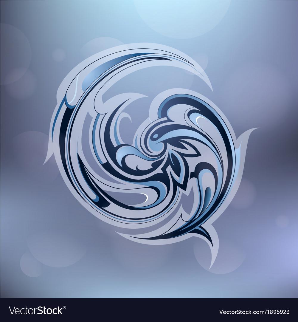 Water swirl vector