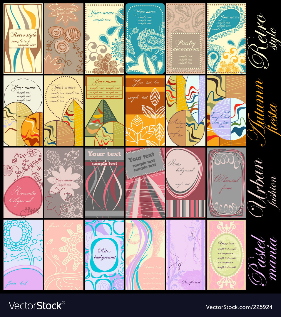 Business cards collection vector