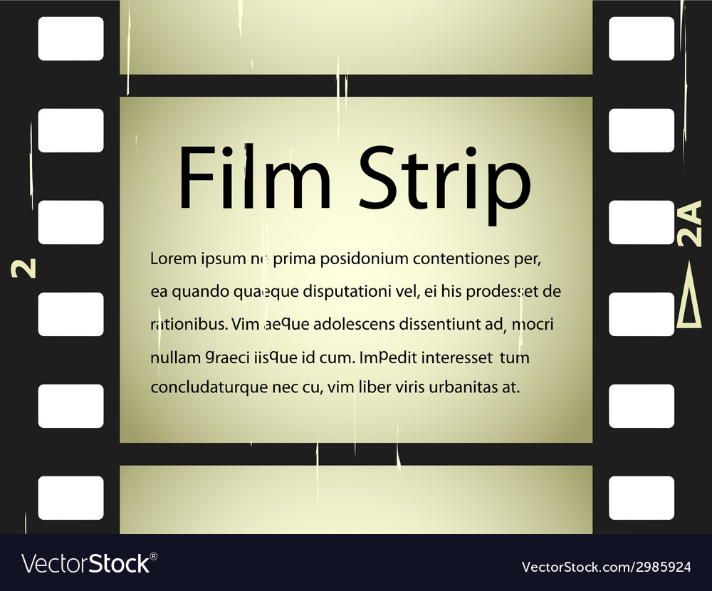 Scratched film strip vector