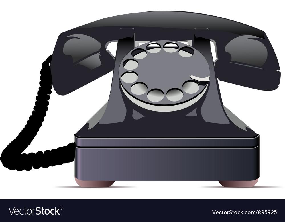 Black telephone vector