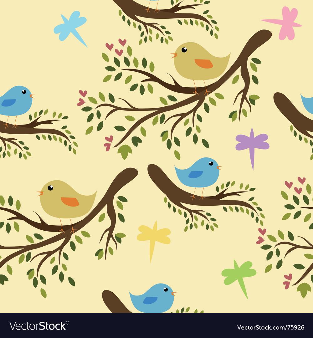 Seamless birds vector