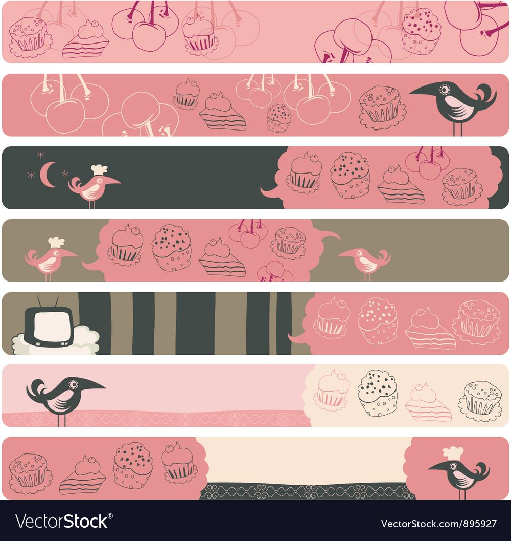 Banner backgrounds vector