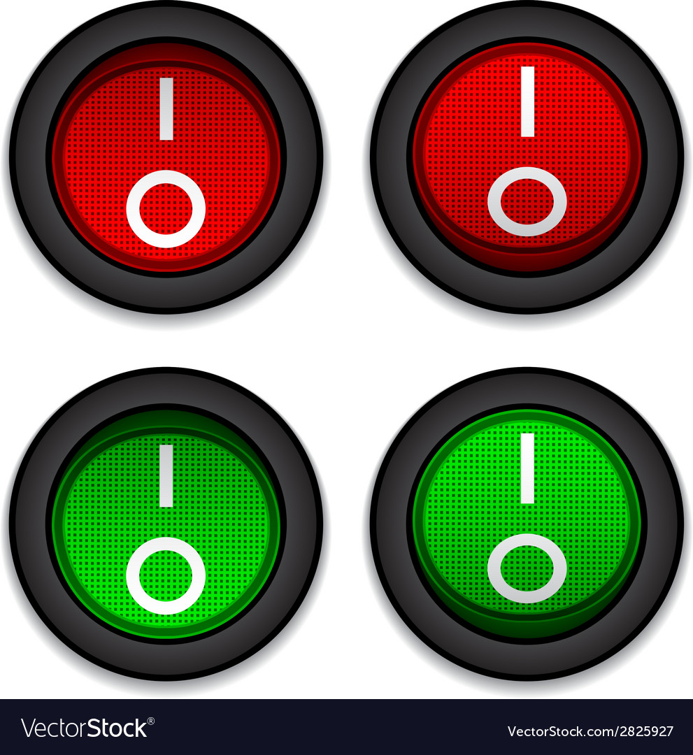 Circle toggle power switches vector