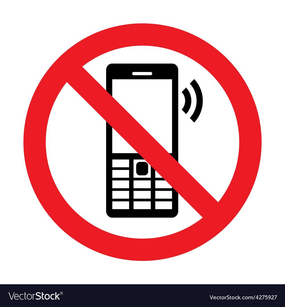 No cell phone vector