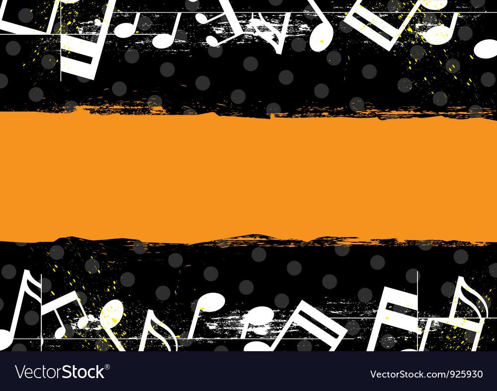 Music grunge banner design vector