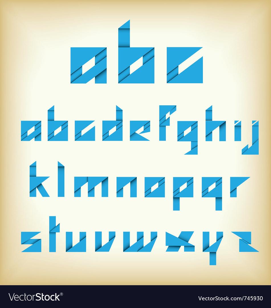 Origami alphabet new style vector