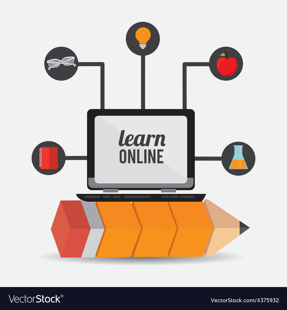 E- learning design vector